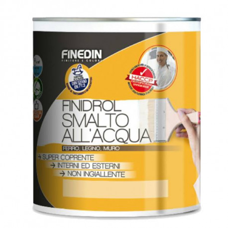 FINIDROL SMALTO ALL'ACQUA CERTIFICATO HCCP
